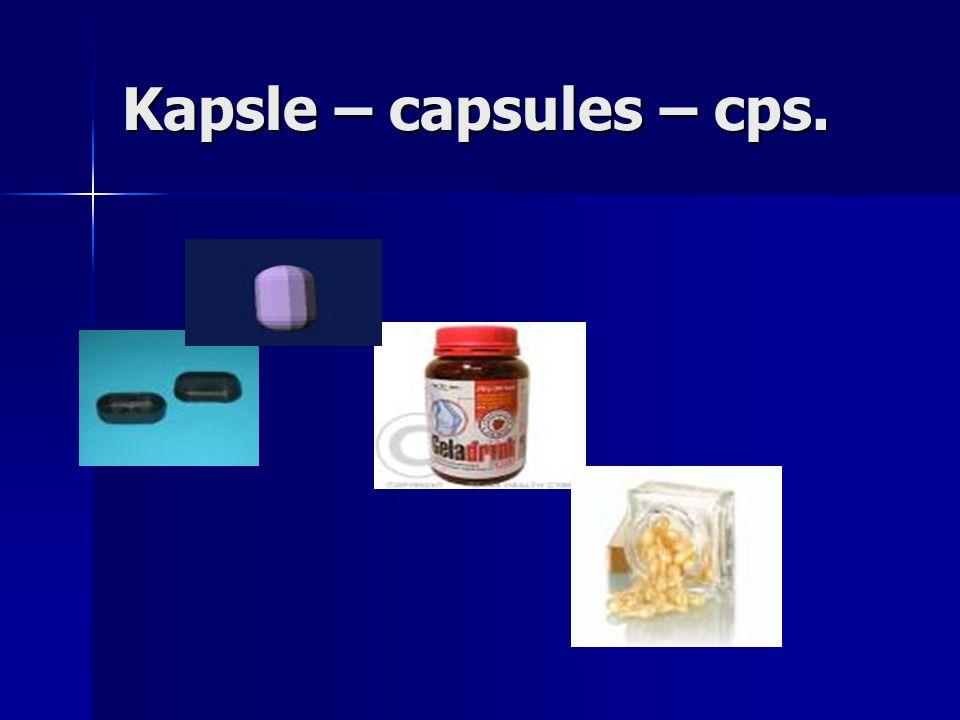 Kapsle – capsules – cps.
