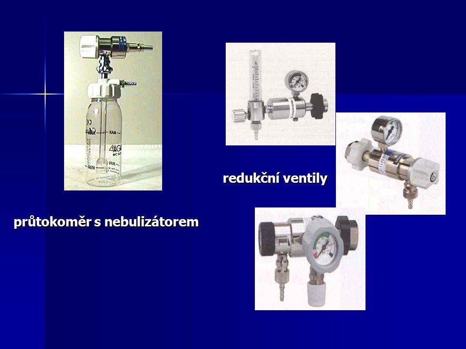 průtokoměr s nebulizátorem redukční ventily
