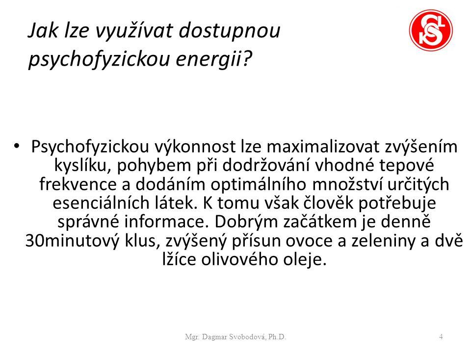 Jak lze využívat dostupnou psychofyzickou energii.