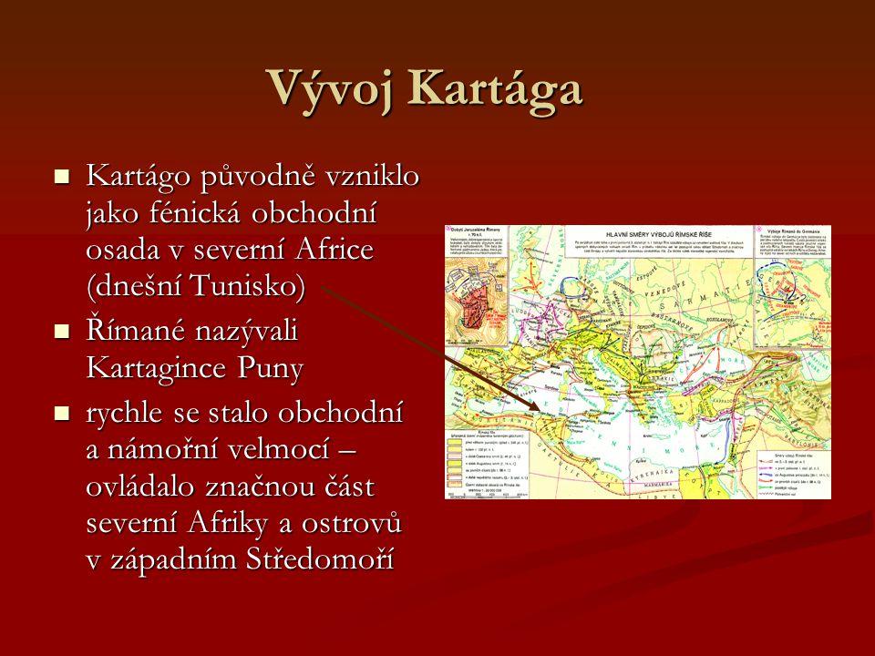 Punské války Opakování dosavadního vývoje starověkého Říma: -8. století: založení města (nadvláda Etrusků) -8. století: založení města (nadvláda Etrus