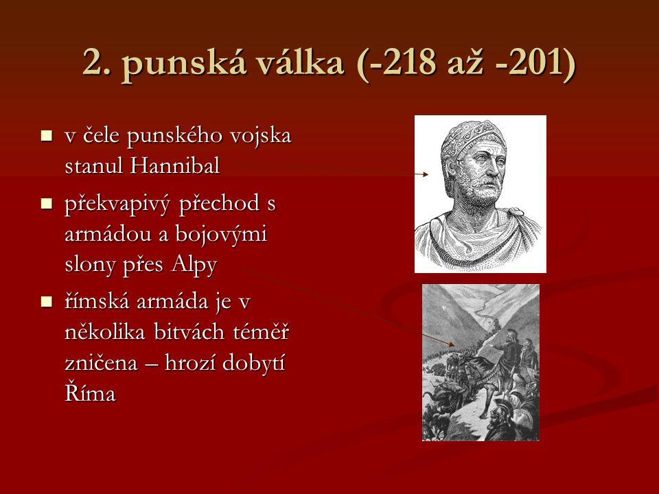 2. punská válka (-218 až -201) po prohrané válce se Kartágo orientuje na Hispánii po prohrané válce se Kartágo orientuje na Hispánii velké bohatství d