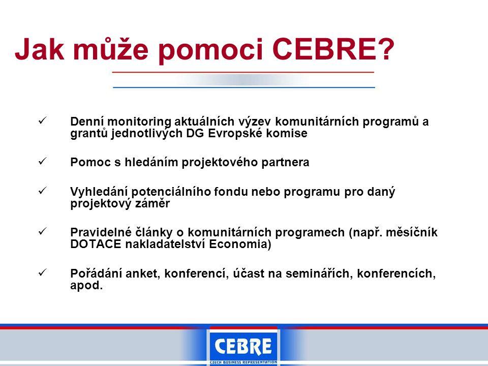 Jak může pomoci CEBRE.