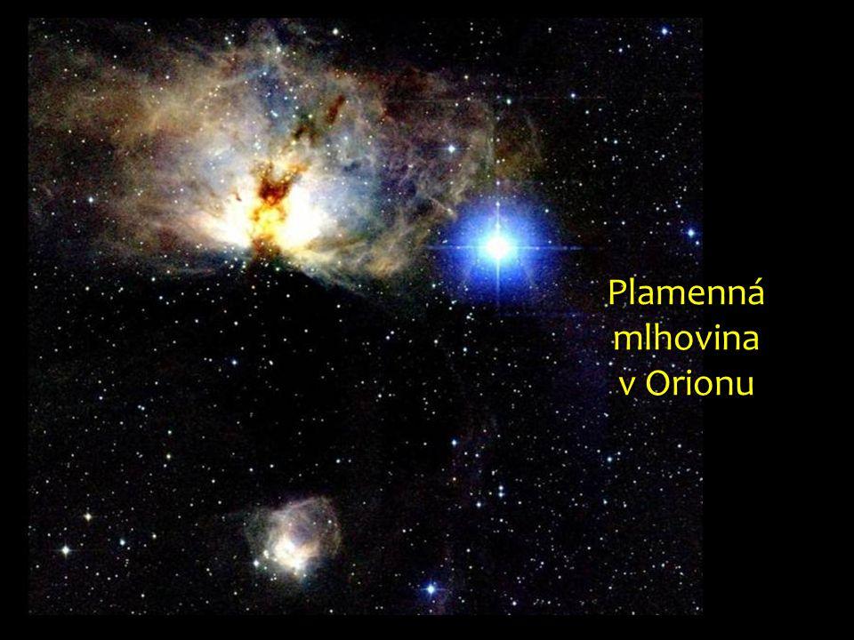 Plamenná mlhovina v Orionu