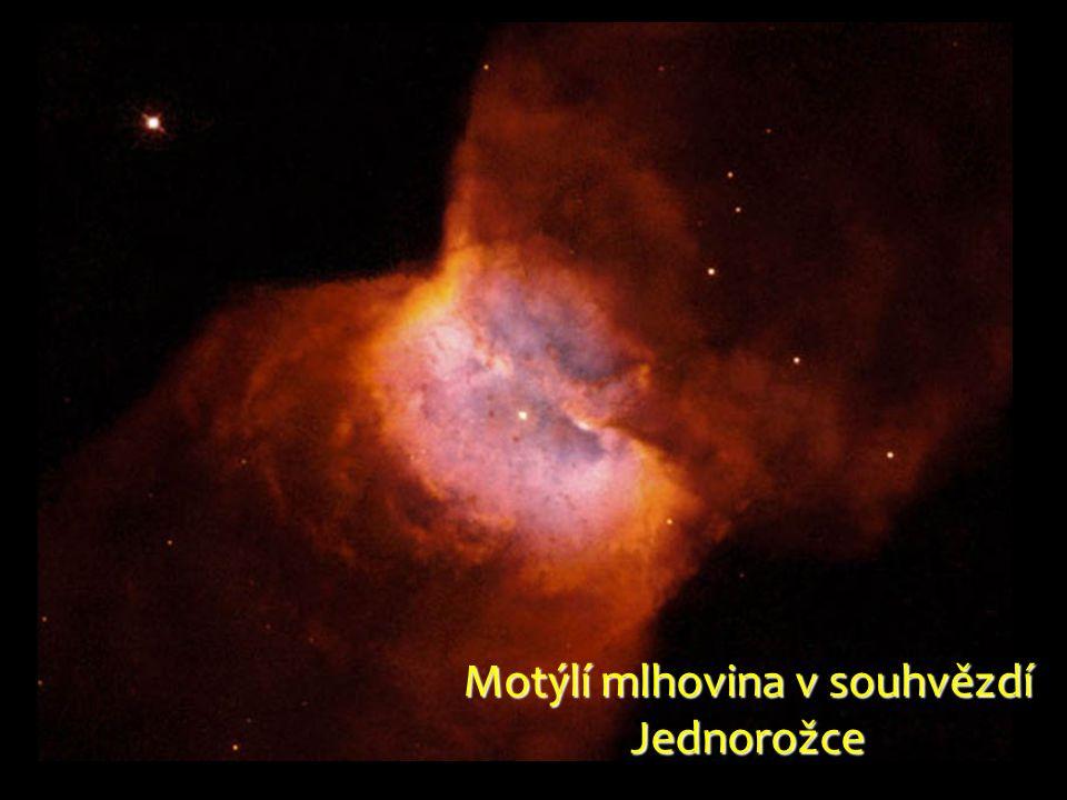 Motýlí mlhovina v souhvězdí Jednorožce