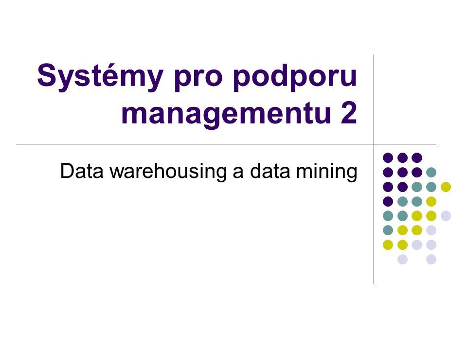 Systémy pro podporu managementu 2 Data warehousing a data mining