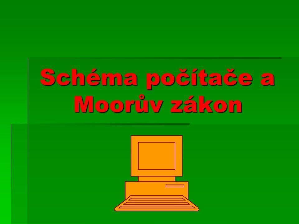 Schéma počítače a Moorův zákon