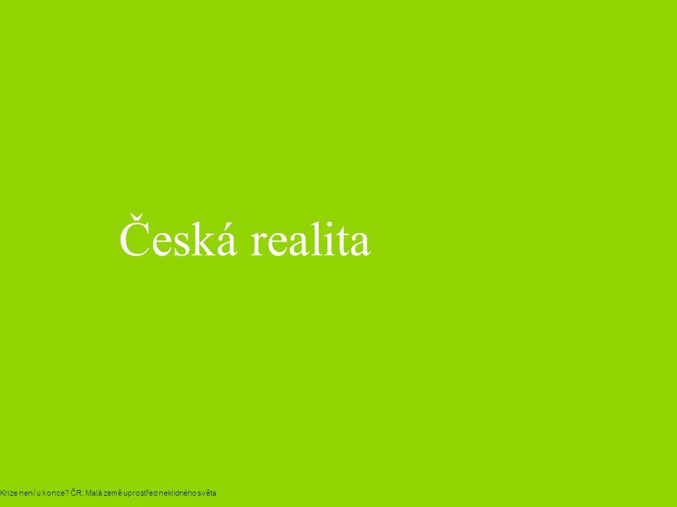 Česká realita Krize není u konce? ČR: Malá země uprostřed neklidného světa