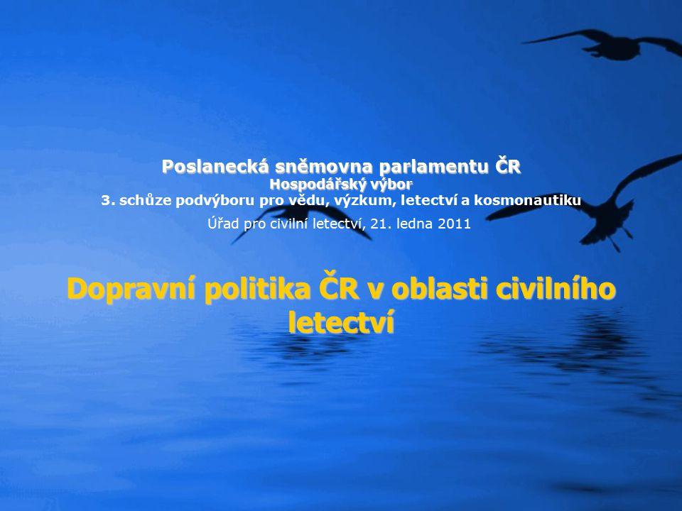 Poslanecká sněmovna parlamentu ČR Hospodářský výbor 3. schůze podvýboru pro vědu, výzkum, letectví a kosmonautiku Úřad pro civilní letectví, 21. ledna