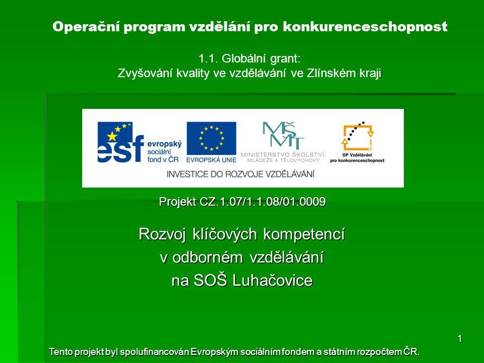 i Operační program vzdělání pro konkurenceschopnost 1.1.