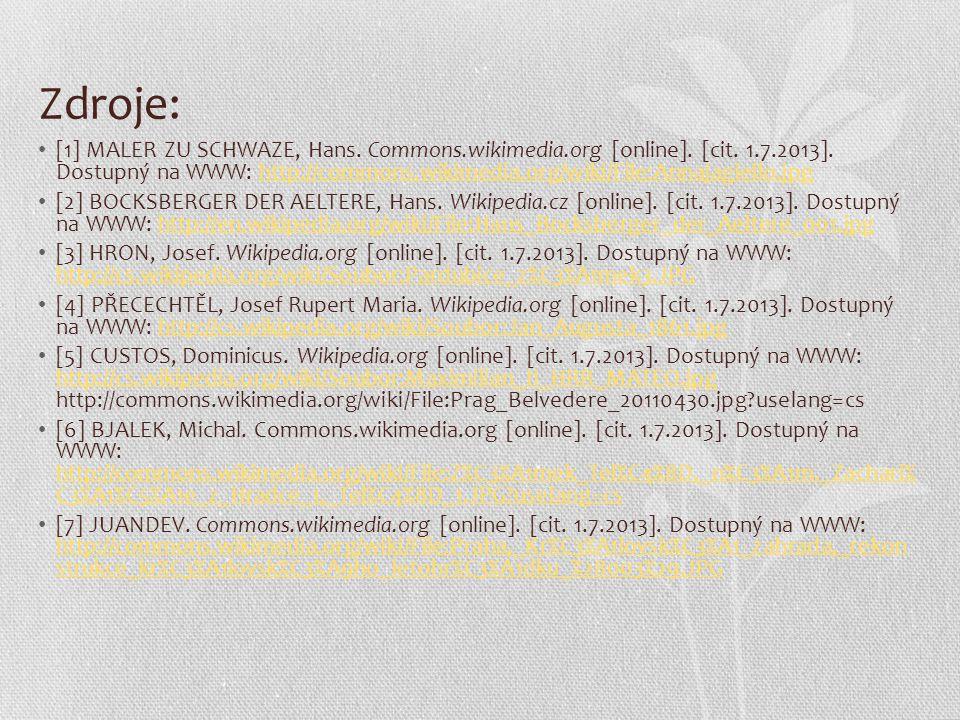 Zdroje: [1] MALER ZU SCHWAZE, Hans. Commons.wikimedia.org [online]. [cit. 1.7.2013]. Dostupný na WWW: http://commons.wikimedia.org/wiki/File:Annajagie
