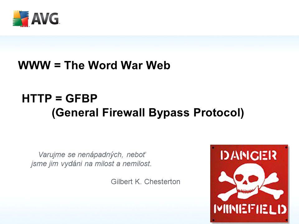 WWW = The Word War Web HTTP = GFBP (General Firewall Bypass Protocol) Varujme se nenápadných, neboť jsme jim vydáni na milost a nemilost.