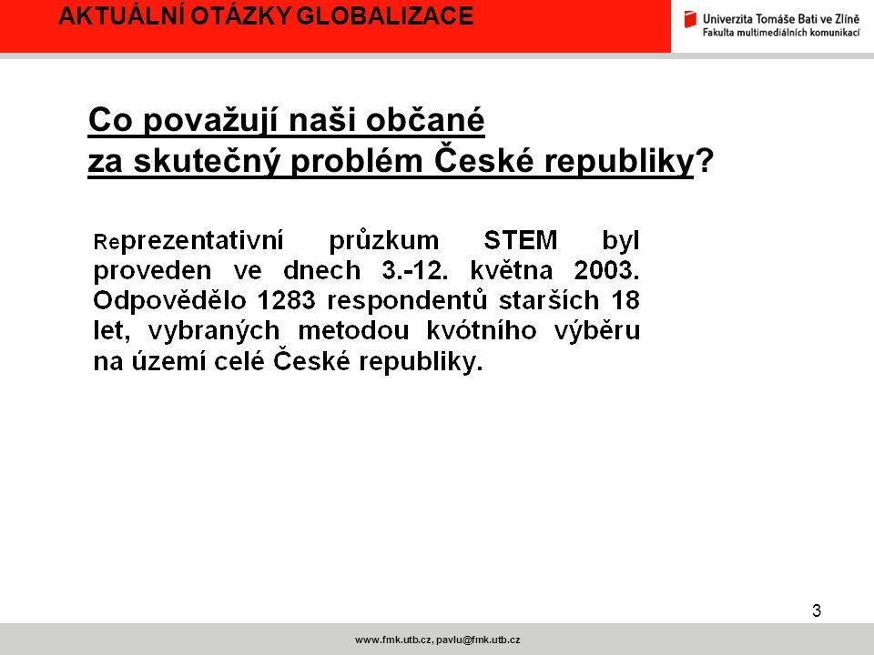 4 www.fmk.utb.cz, pavlu@fmk.utb.cz AKTUÁLNÍ OTÁZKY GLOBALIZACE
