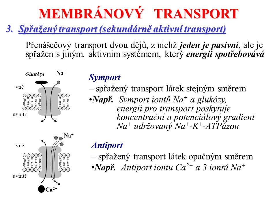 MEMBRÁNOVÝ TRANSPORT 3.