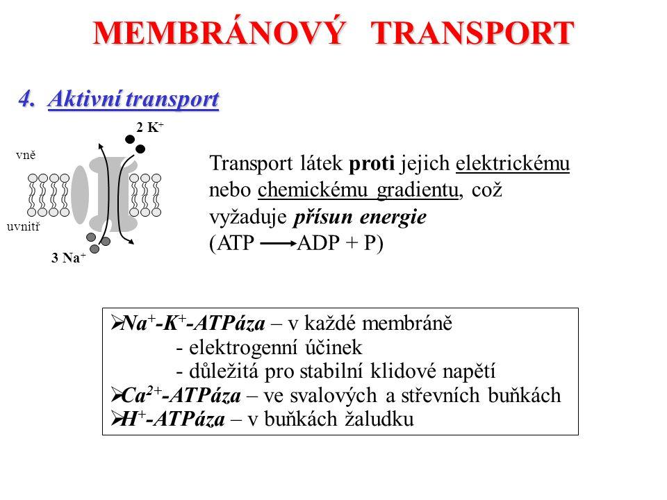 MEMBRÁNOVÝ TRANSPORT 4.
