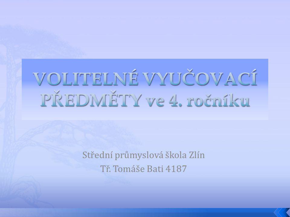 Střední průmyslová škola Zlín Tř. Tomáše Bati 4187