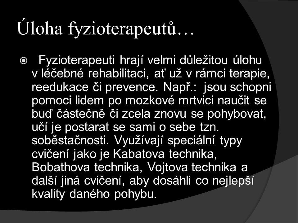 Odkazy a literatura  http://www.fyzioterapeut.com/fyzioterapi e.php http://www.fyzioterapeut.com/fyzioterapi e.php  http://www.unify- cr.cz/koncepce/koncepce-oboru- fyzioterapie.html http://www.unify- cr.cz/koncepce/koncepce-oboru- fyzioterapie.html  Pavlů, D.