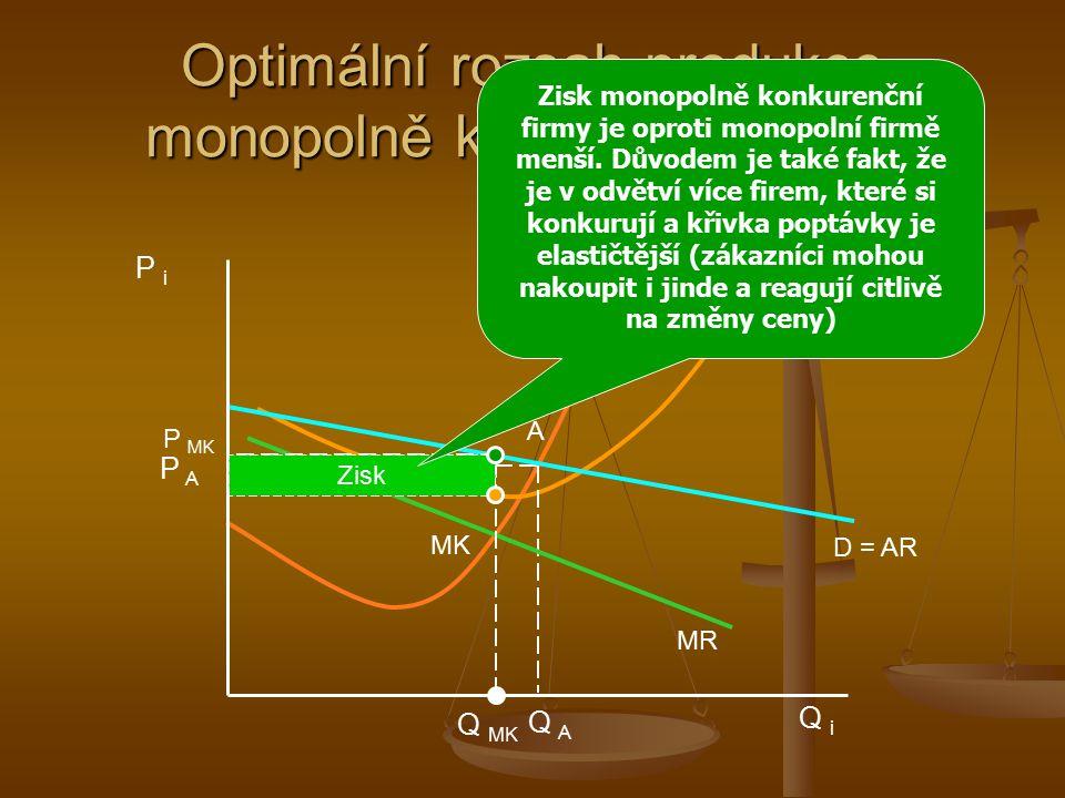 Charakteristika monopolistické konkurence obsahuje rysy monopolu i DK. obsahuje rysy monopolu i DK. velký počet výrobců, předpokládajících, že jejich