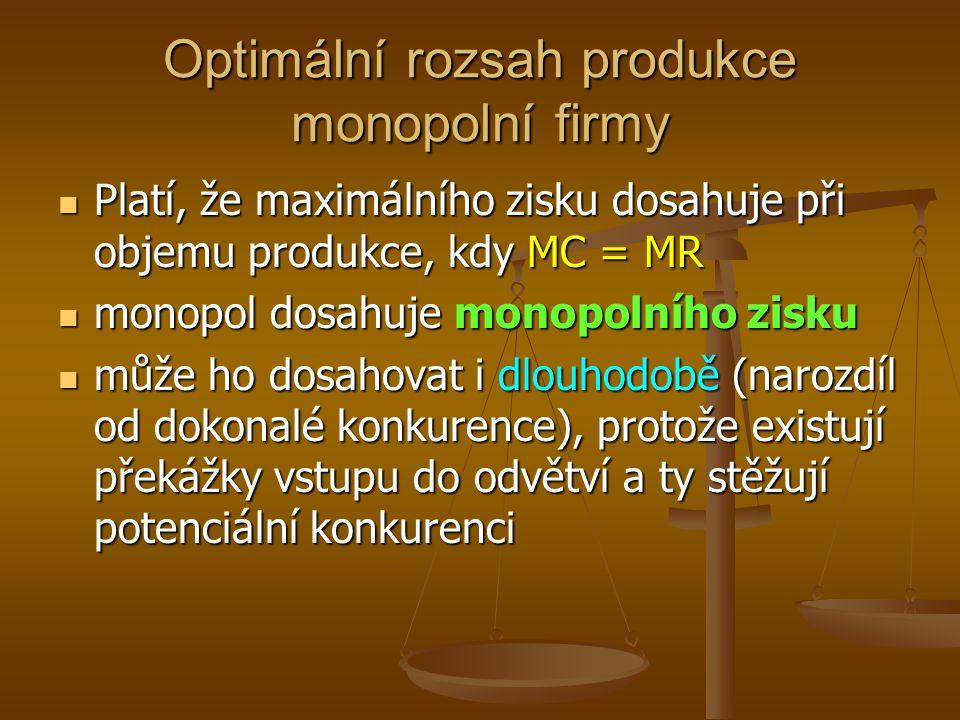 Charakteristika monopolistické konkurence obsahuje rysy monopolu i DK.