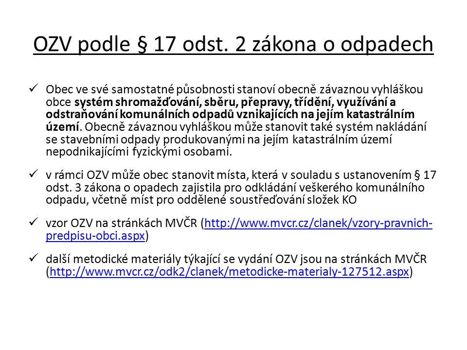 OZV podle § 17 odst.