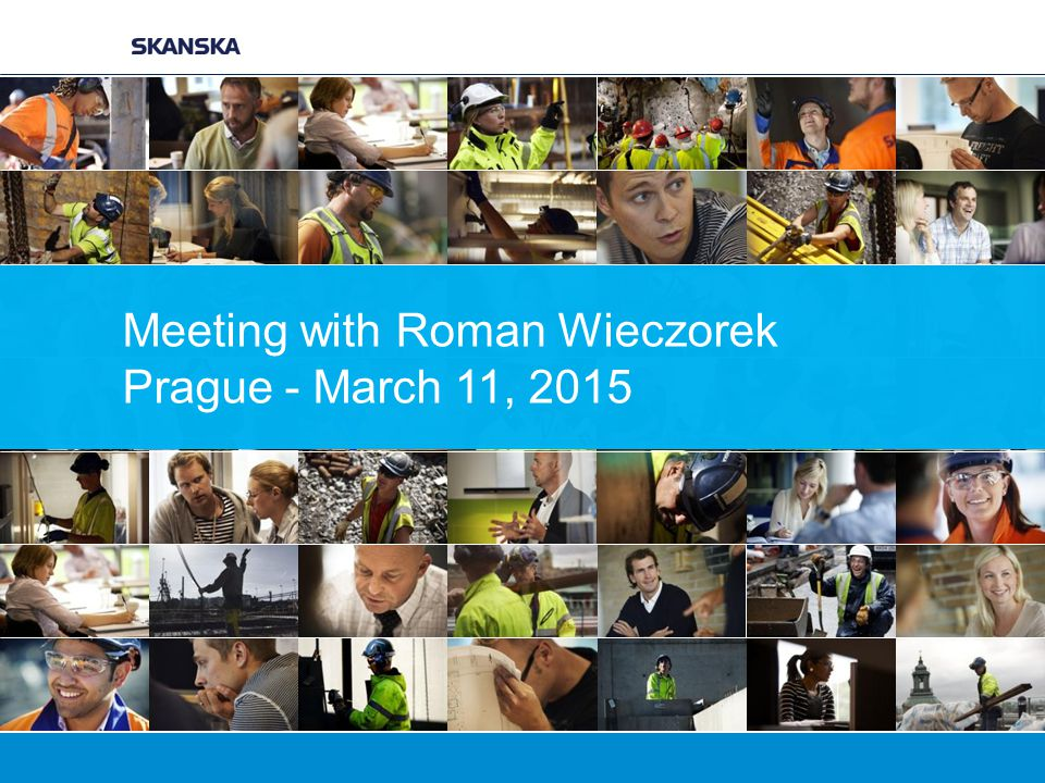 Meeting with Roman Wieczorek Prague - March 11, 2015
