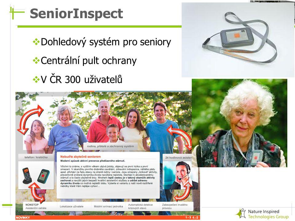 17 SeniorInspect  Dohledový systém pro seniory  Centrální pult ochrany  V ČR 300 uživatelů