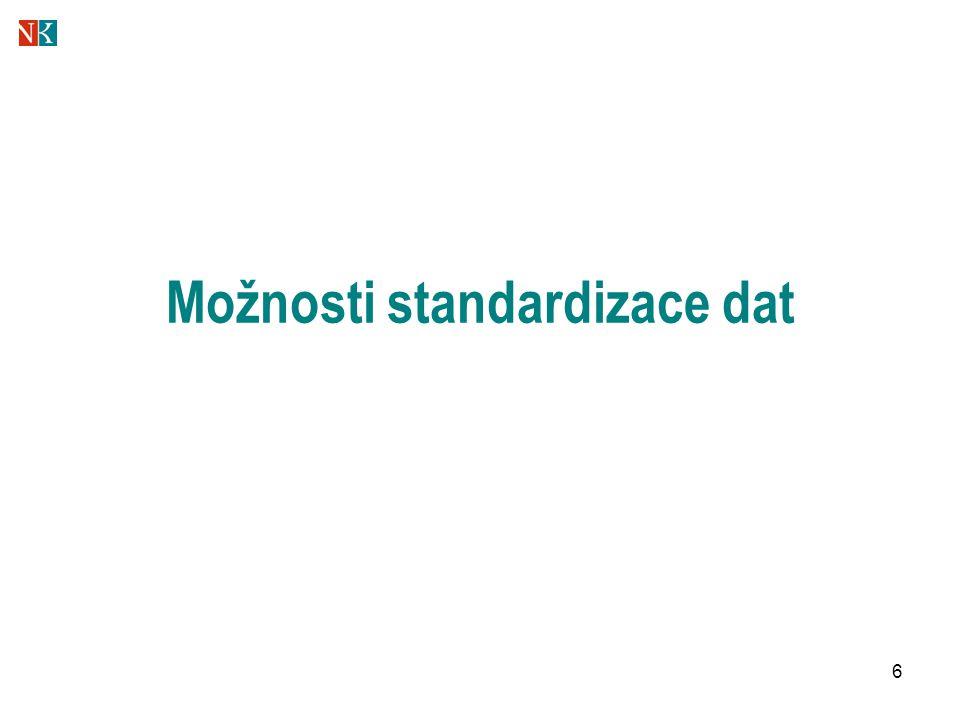 6 Možnosti standardizace dat