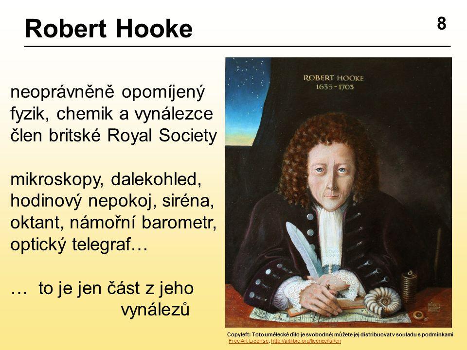 8 Robert Hooke Copyleft: Toto umělecké dílo je svobodné; můžete jej distribuovat v souladu s podmínkami Free Art License. http://artlibre.org/licence/