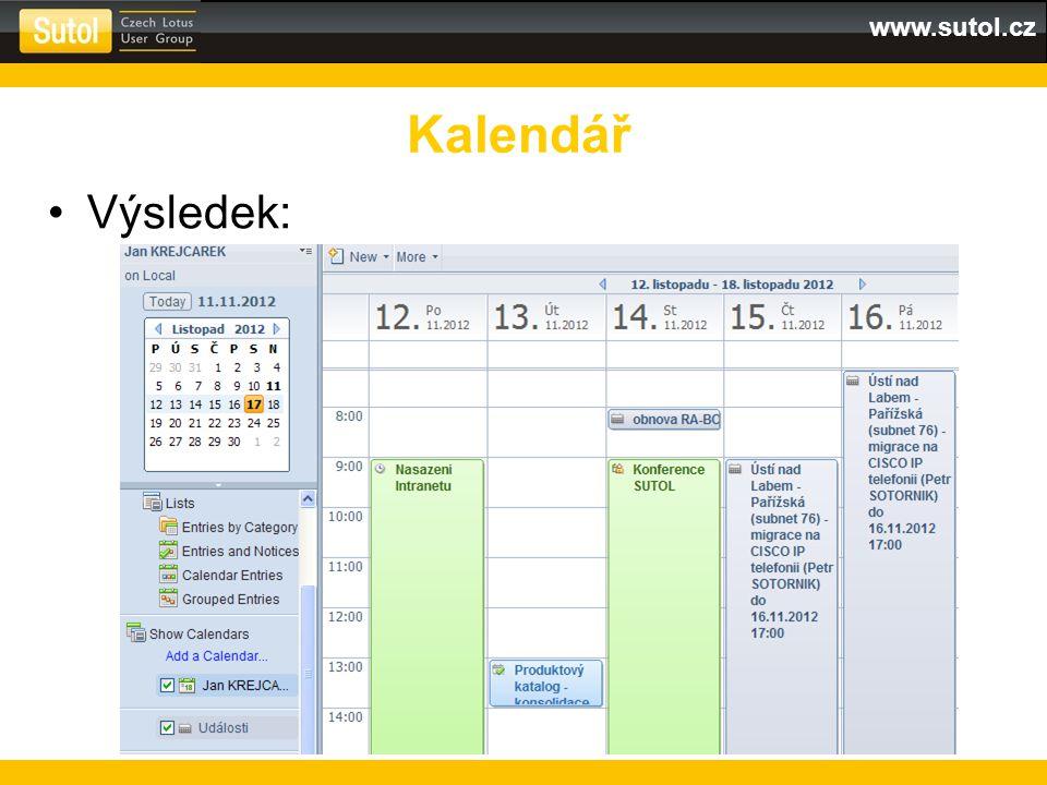 www.sutol.cz Výsledek: Kalendář