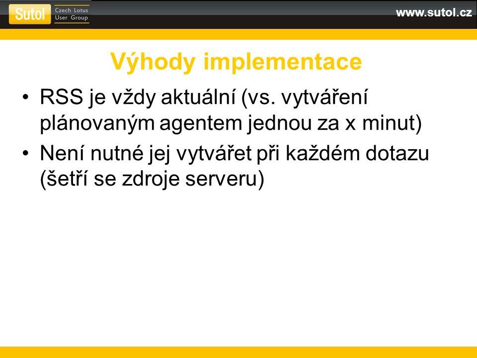www.sutol.cz RSS je vždy aktuální (vs.