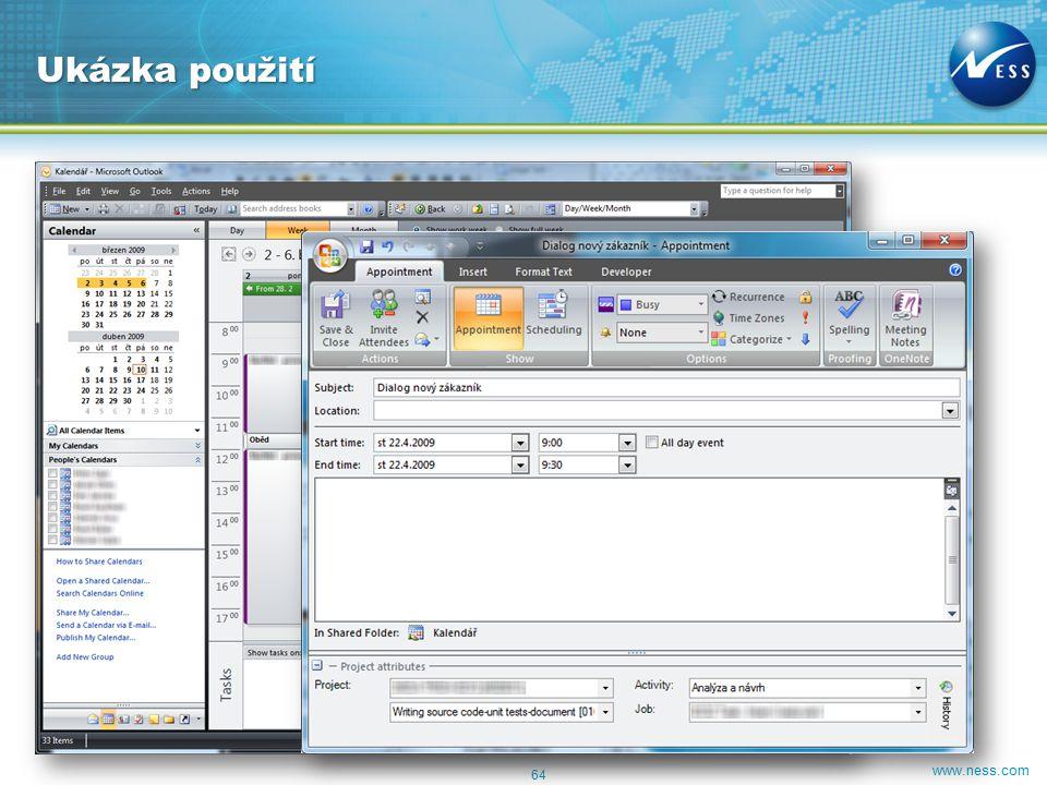 www.ness.com 64 Ukázka použití