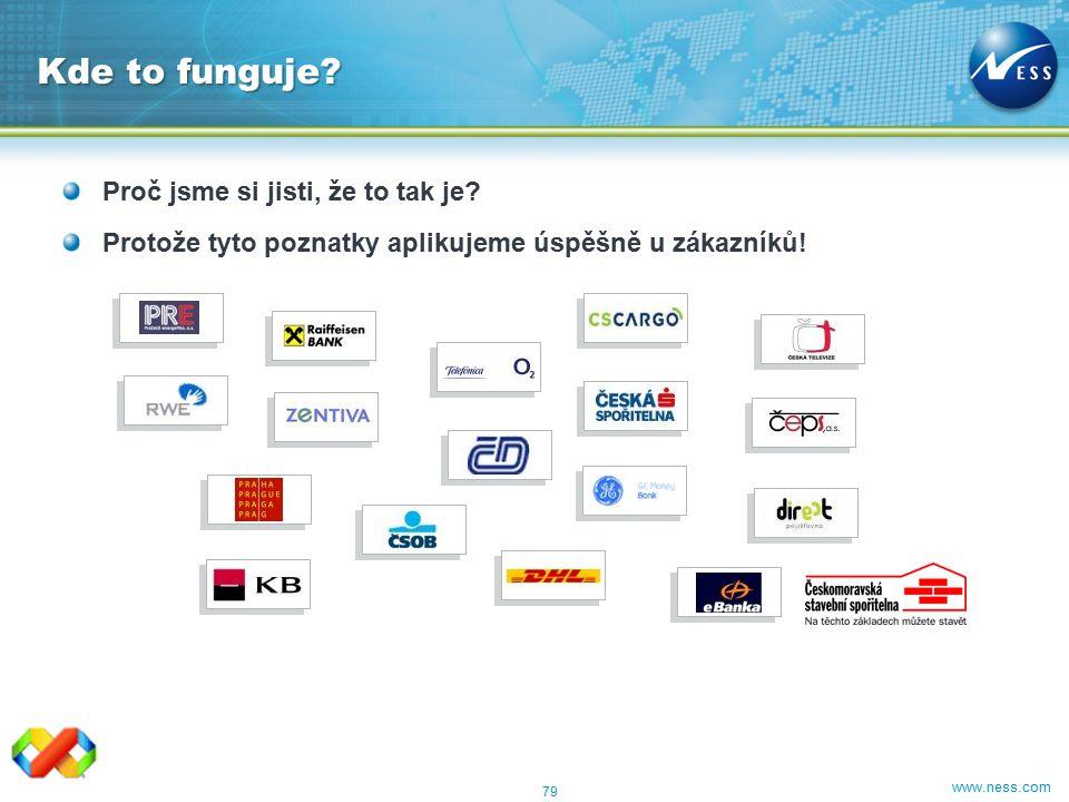 www.ness.com Proč jsme si jisti, že to tak je? Protože tyto poznatky aplikujeme úspěšně u zákazníků! 79 Kde to funguje?