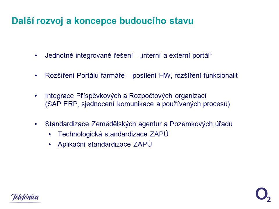 Projektový tým - složení Telefónica O2 Czech Republic Hlavní komplexní integrátor projektu součinnost v projektu 2 systémových subdodavatelů v oblasti dodávek a provozu HW infrastruktury 1 garanta bezpečnosti a kvality 5 aplikačních subdodavatelů v oblasti vývoje a provozu Registrů a SAP ERP systému