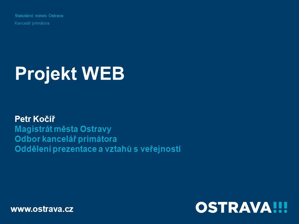 Začátek www.ostrava.cz požadavky MMO požadavky ÚMOb Projekt WEB Vypracoval: Petr Kočíř