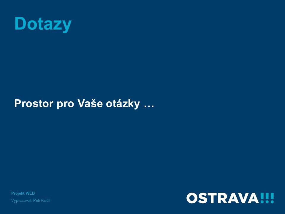 Dotazy Prostor pro Vaše otázky … Projekt WEB Vypracoval: Petr Kočíř