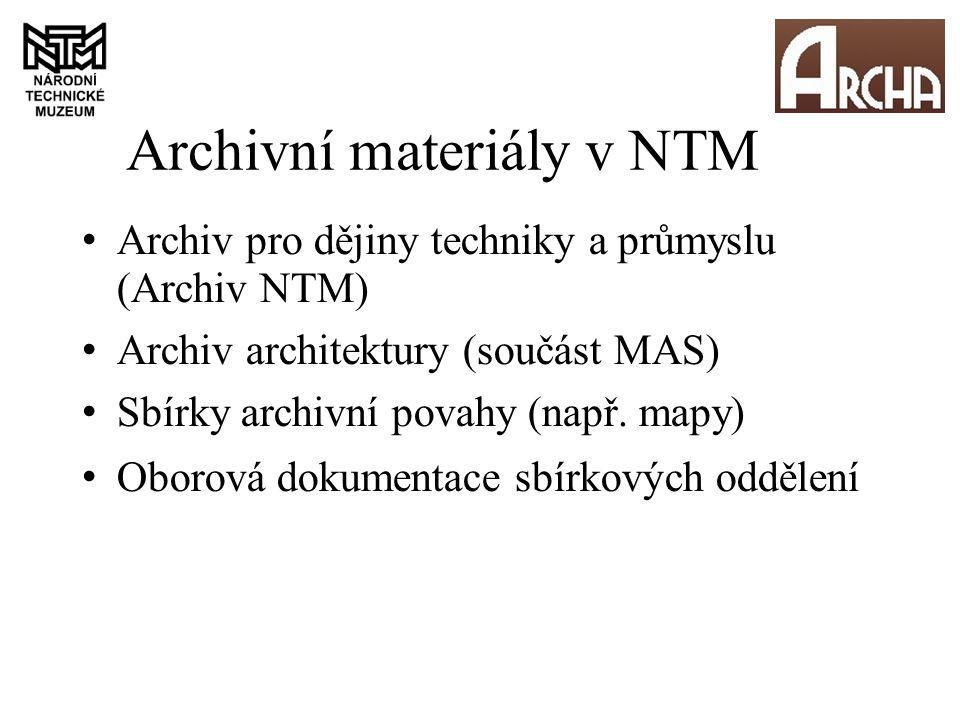 """Výchozí stav evidence Archivy - klasické archivní pomůcky, PEvA Digitalizace – vlastní aplikace """"Náprstek z roku 2003, neprovázáno s evidencí archivů V r."""
