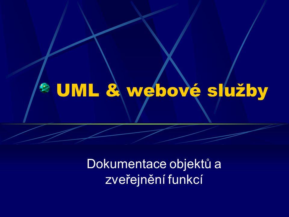 UML & webové služby Dokumentace objektů a zveřejnění funkcí