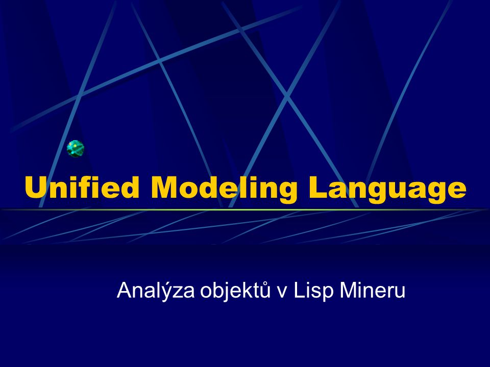 Unified Modeling Language Analýza objektů v Lisp Mineru