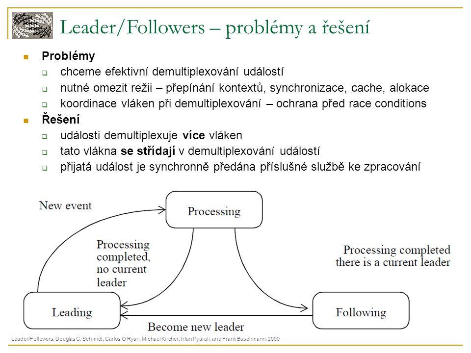 Leader/Followers – problémy a řešení Problémy  chceme efektivní demultiplexování událostí  nutné omezit režii – přepínání kontextů, synchronizace, c