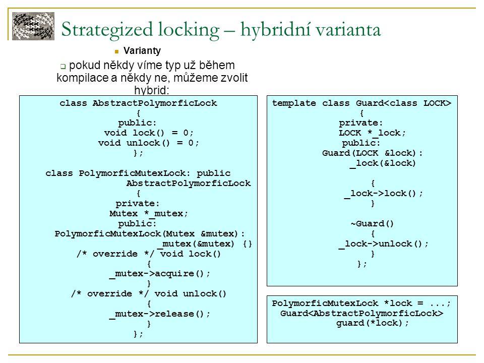 Strategized locking – hybridní varianta Varianty  pokud někdy víme typ už během kompilace a někdy ne, můžeme zvolit hybrid: class AbstractPolymorficL