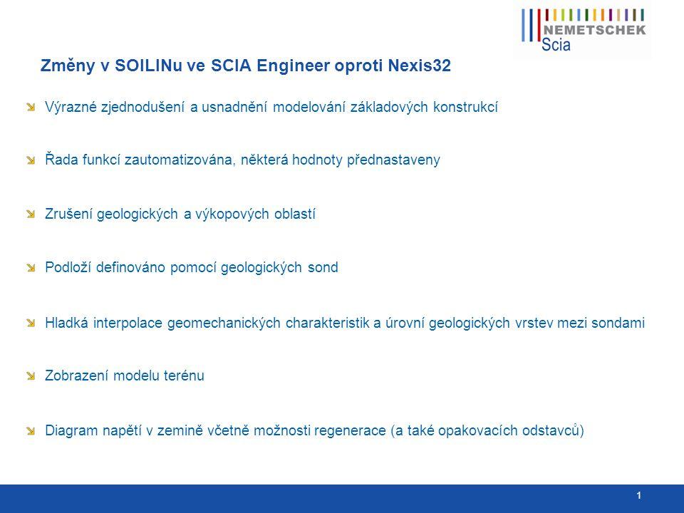 Původní zadání v NEXISu a nové ve SCIA Engineer 2