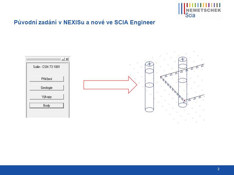 Zadání podloží SOILIN ve SCIA Engineer 3 Zadání plošné podpory typu SOILIN Aktivace příslušné funkcionality pro projekt Nastavení řešiče – přiřazení kombinace a startovacích parametrů C Nastavení sítě – dělení pro plošné prvky Definice geologických profilů a zadání jednotlivých vrtů Spuštění lineárního výpočtu Zadání lineární kombinace pro SOILIN Standardní vyhodnocení výsledků na horní stavbě
