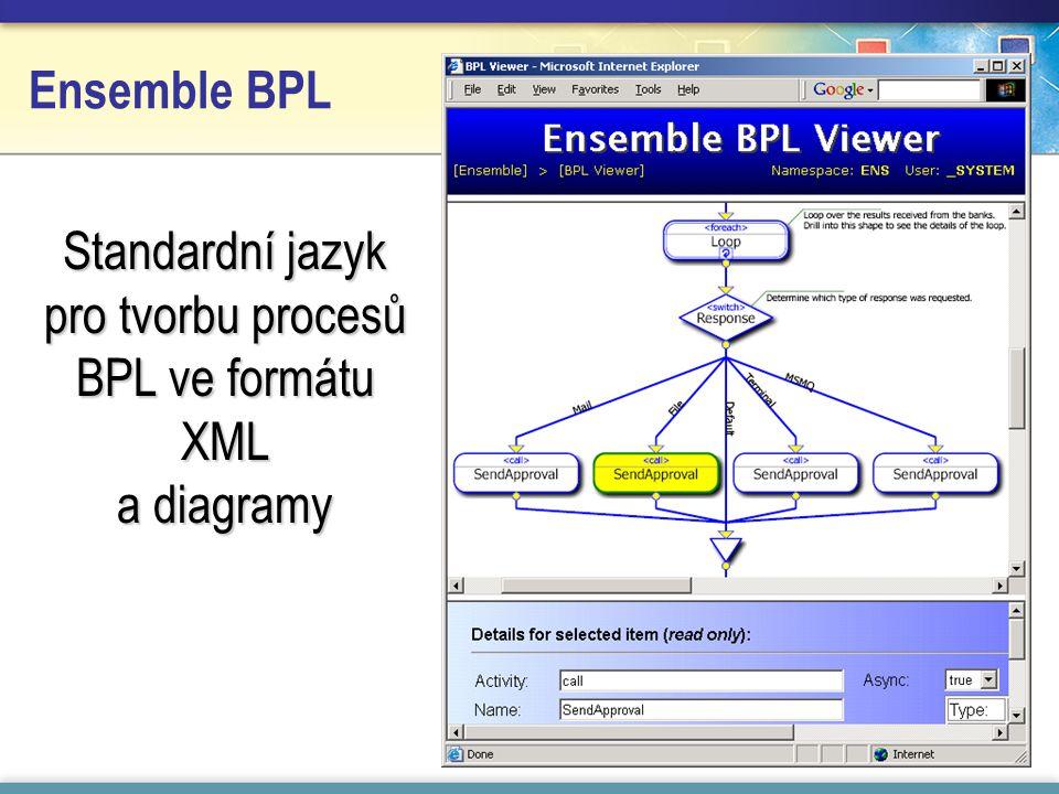 Standardní jazyk pro tvorbu procesů BPL ve formátu XML a diagramy Ensemble BPL