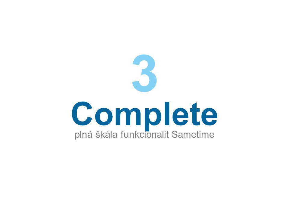Complete plná škála funkcionalit Sametime 3