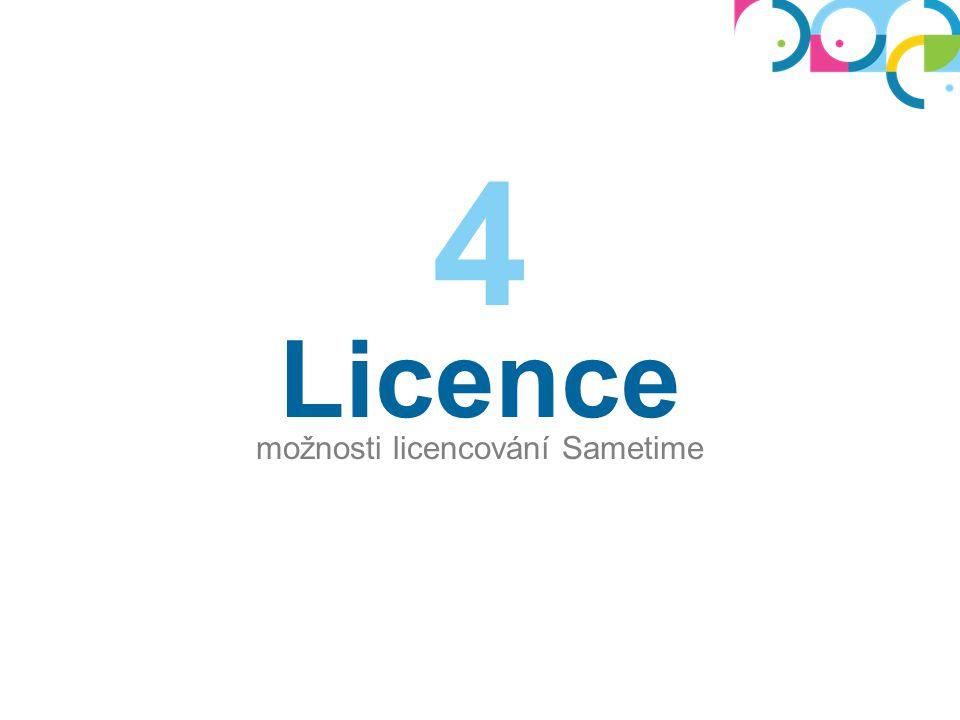 Licence možnosti licencování Sametime 4