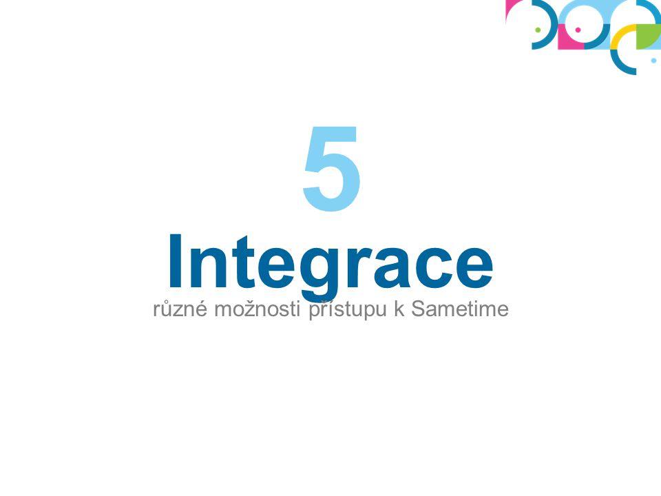 Integrace různé možnosti přístupu k Sametime 5