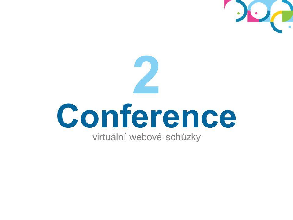 Virtuální schůzky Slouží jako náhrada za skutečnou schůzku: můžete promítat prezentace, sdílet obrazovku, diskutovat,...