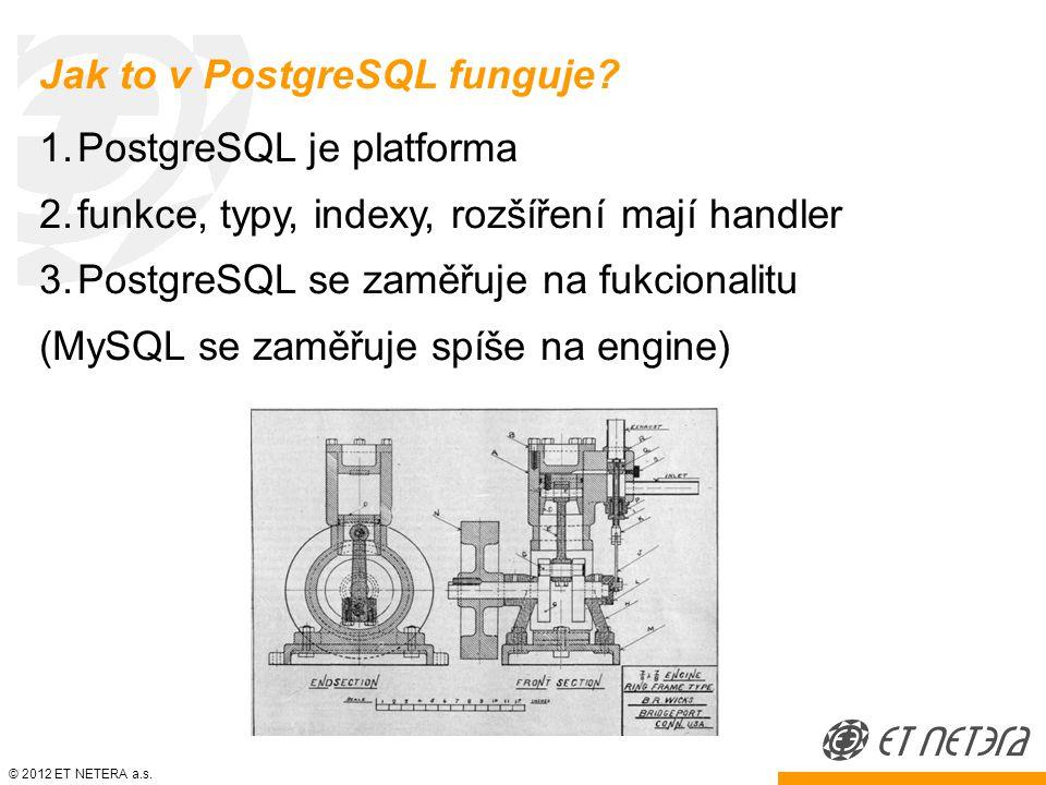© 2012 ET NETERA a.s. Jak to v PostgreSQL funguje.