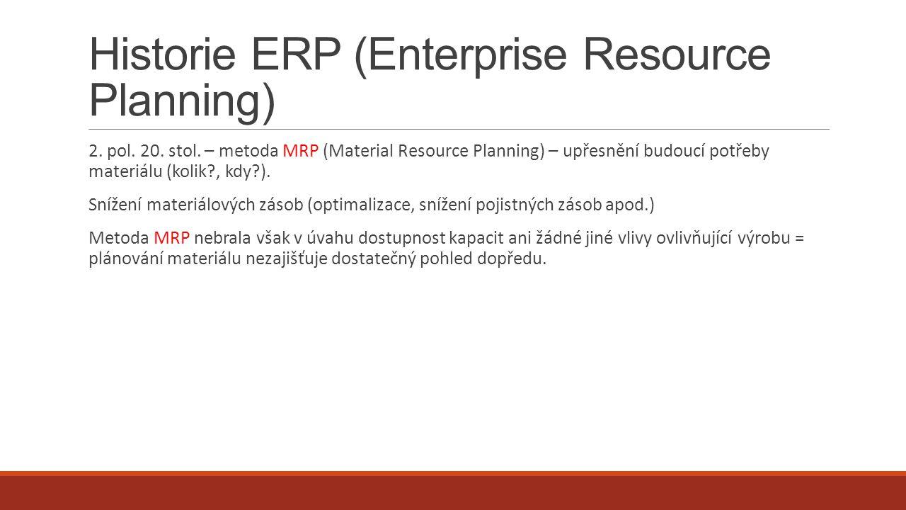 Nasazení ERP dle velikosti zákaznické organizace