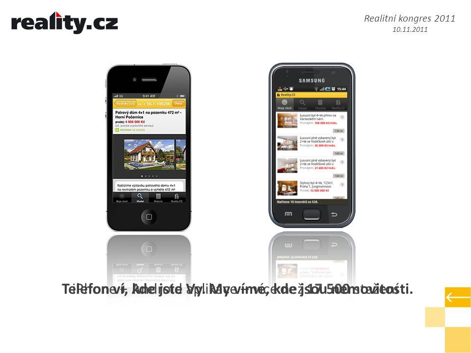 iPhone + Android aplikace – více než 17 500 staženíTelefon ví, kde jste Vy.