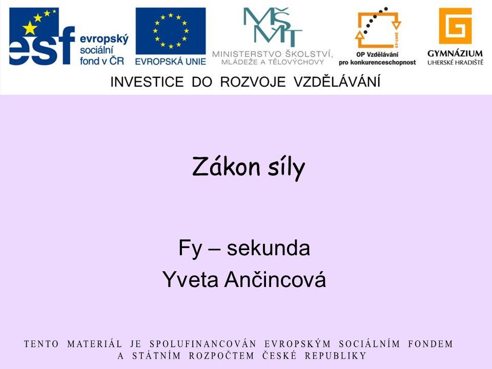 Zákon síly Fy – sekunda Yveta Ančincová